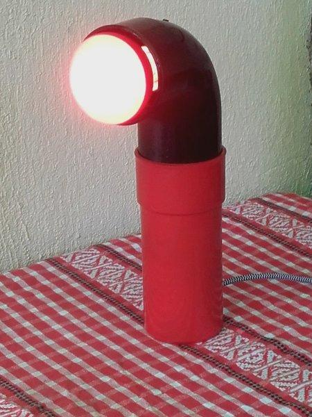 Lampe design à partir d'un tuyau en PVC-finition