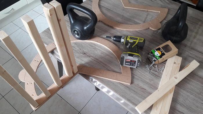 Rocking chair Enfant-2 - Montage de la structure