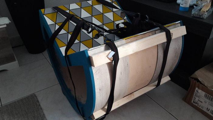Rocking chair Enfant-4 - Peinture et pose des lames PVC