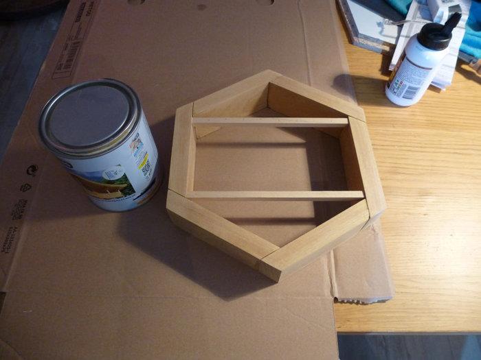 Beezbrille applique murale-Positionner la cotte de mailles en laiton irisé