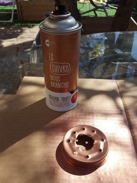 DIY : suspension en bois flotté et bocaux-Préparation des bocaux