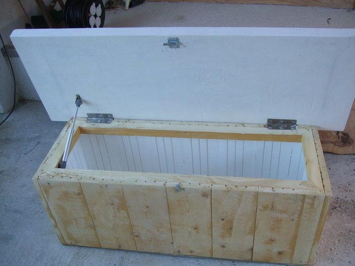 Table basse en bois multifonction coffre et banquette-ETAPE 4