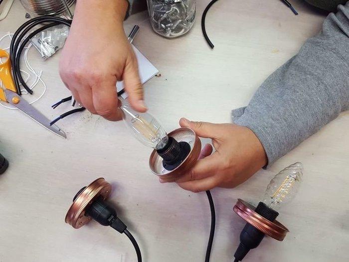 DIY : suspension en bois flotté et bocaux-Finalisation de la suspension