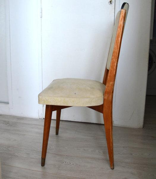 Rénovation d'une vieille chaise en bois et tissus-Avoir l'oeil (et du gel hydroalcoolique)