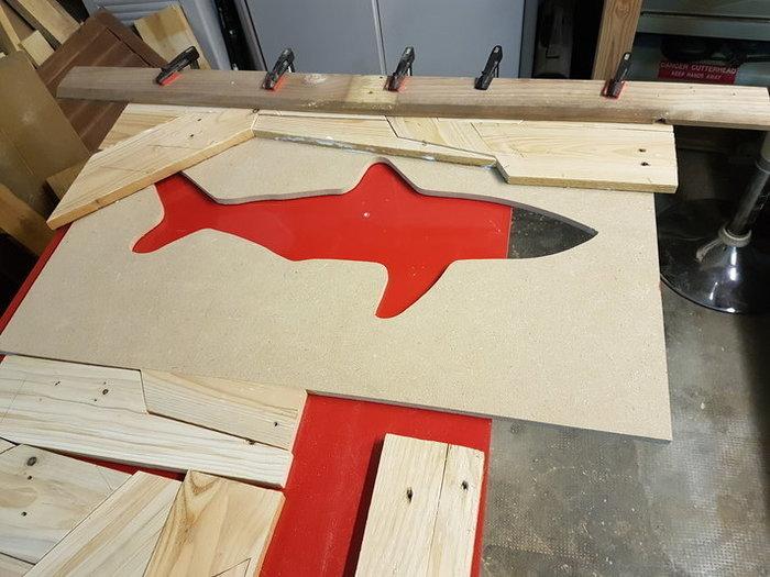 "Tableaux Lumineux ""Puzzle Shark""-Collage"