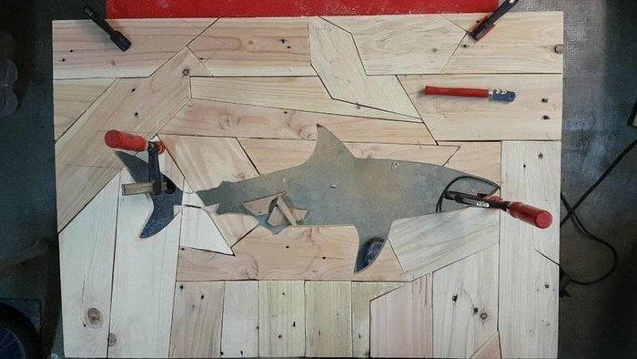"""Tableaux Lumineux """"Puzzle Shark""""-Découpes des bords et des motifs"""