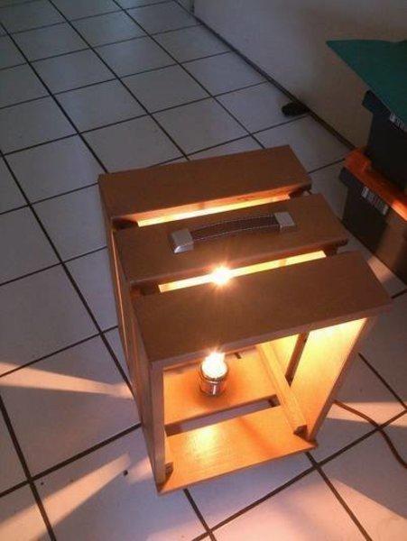 Lampe caisse vintage -tutoriel