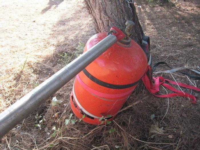 Une lampe bouteille gaz -Démonter la valve