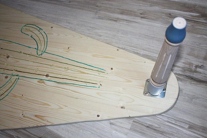 Ma table basse brodée-Les pieds