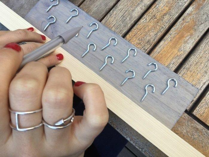 Porte bijoux mural , coiffeuse-Fixer les crochets