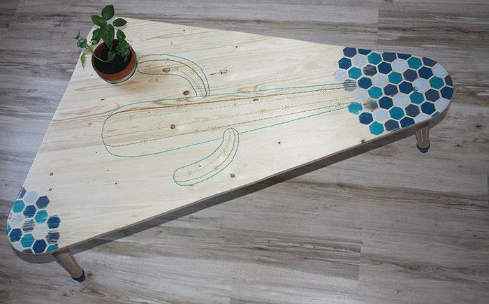 Ma table basse brodée-ENJOY !!