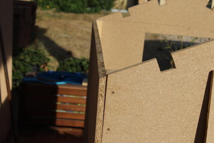Maisonnette cabane en bois pour les enfants-La découpe - 3e partie