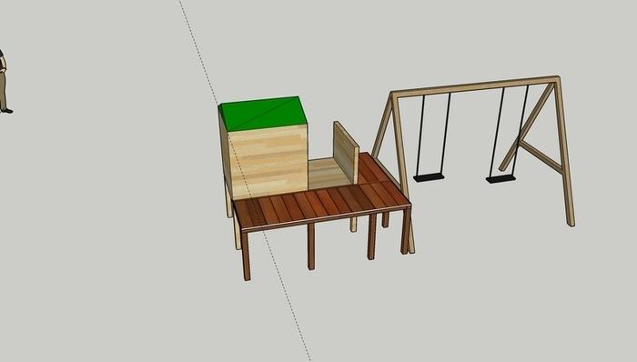 Aménagement et agrandissement d'une cabanne sur piloti-Etape 1 : conception en 3D