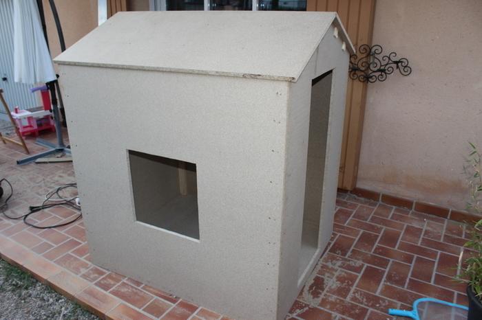 Maisonnette cabane en bois pour les enfants-L'assemblage - 4e partie
