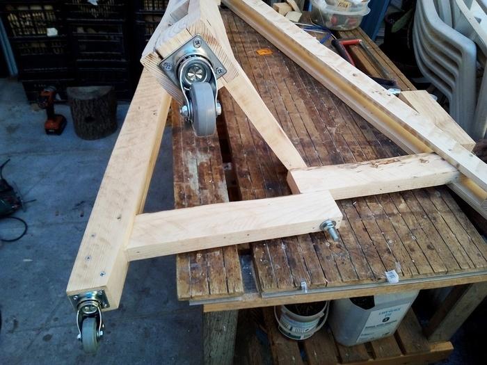 Pot à lait façon Projecteur -Débits et Préparation des bois