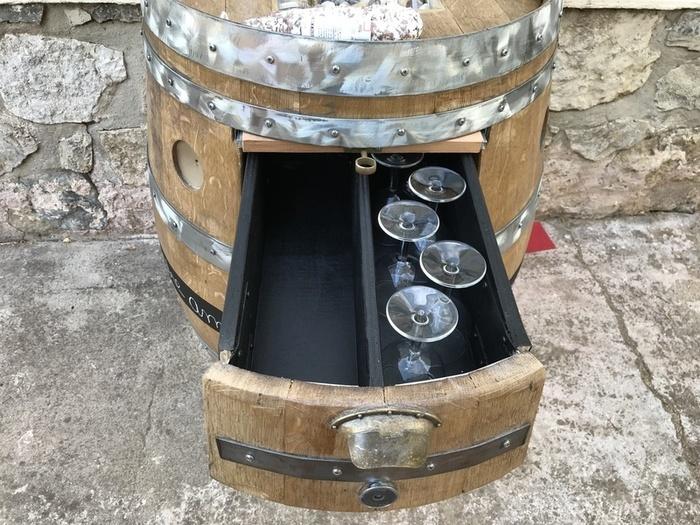 Tonneau transformé en bar-Présentation des fonctions