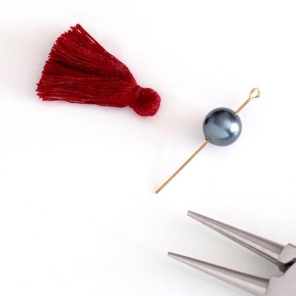 Collier Troisième oeil-Montage de la perle