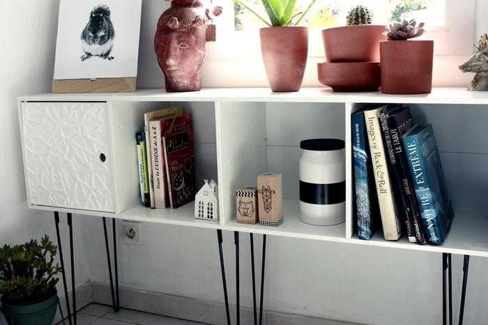 Faire soi même des pieds en épingle pour surélever une étagère-Montez le meuble