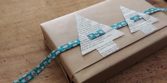 """Emballage cadeau """"Forêt de sapins""""-Décorer"""