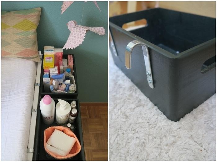 DIY – Caisse de rangement pour table à langer-Peindre et assembler