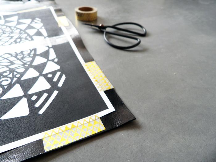 DIY du sac en cuir ajouré -Etape 1: