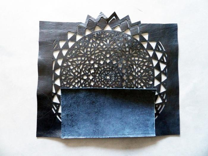 DIY du sac en cuir ajouré -Etape 3: