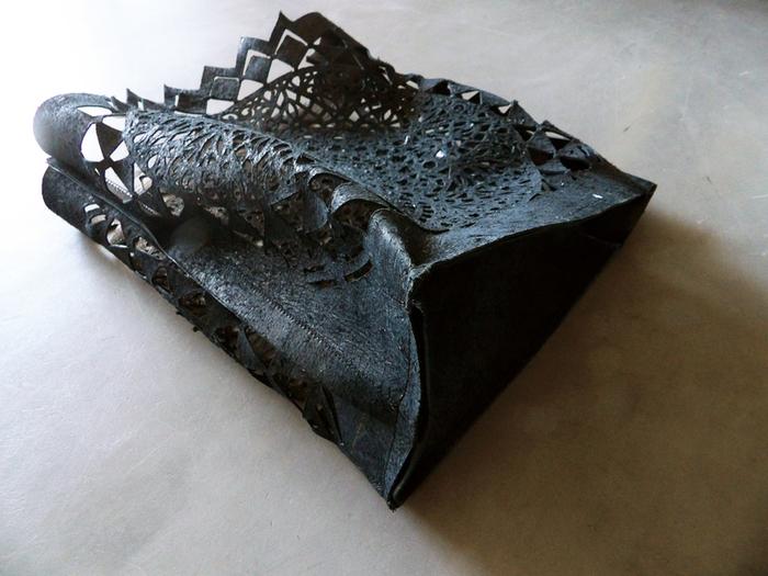 DIY du sac en cuir ajouré -Etape 4: