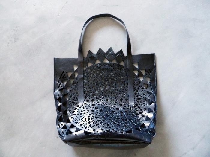 DIY du sac en cuir ajouré -Etape 5:
