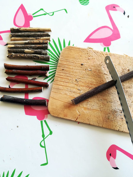 Boite à bijoux nature -Préparation des bouts de bois