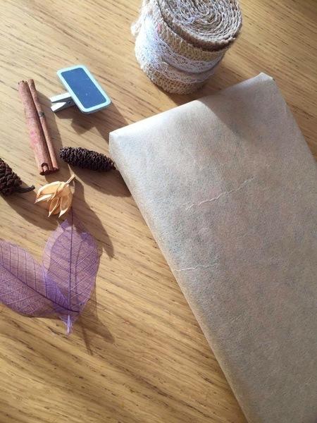 Emballage cadeau nature-Emballage papier du cadeau