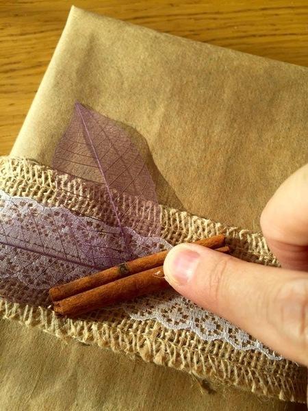 Emballage cadeau nature-Décoration nature du paquet 2