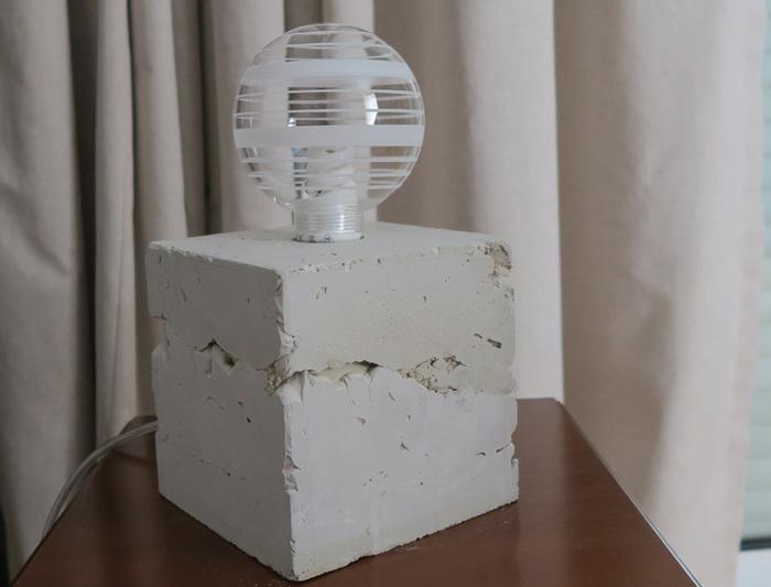 La lampe béton - Concrete Lamp -Démouler et admirer