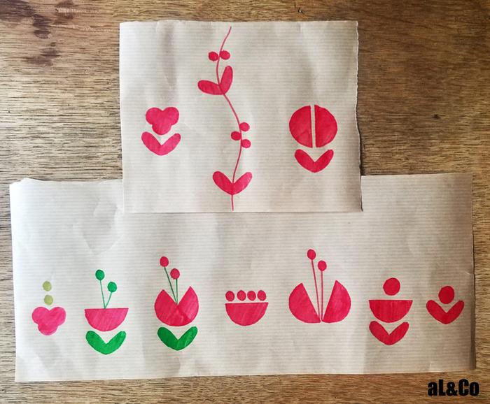 Les paquets cadeaux fleuris esprit vintage-Décoration des paquets