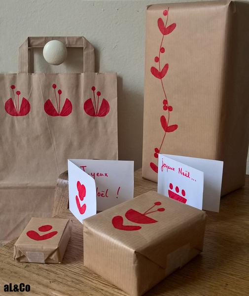 Les paquets cadeaux fleuris esprit vintage-Paquets et étiquettes
