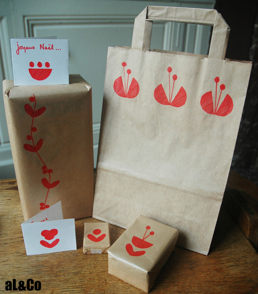 Les paquets cadeaux fleuris esprit vintage-Et voilà le résultat…