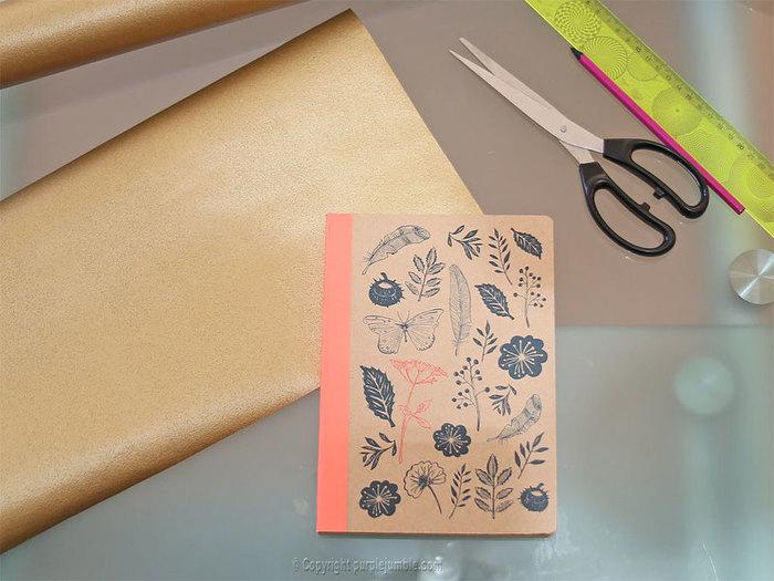 Un paquet cadeau recup et nature-Emballer le cadeau avec du papier peint