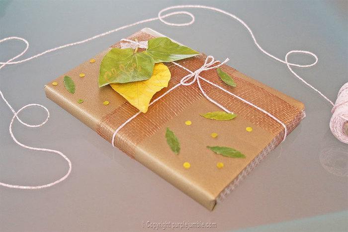 Un paquet cadeau recup et nature-Enjoy !