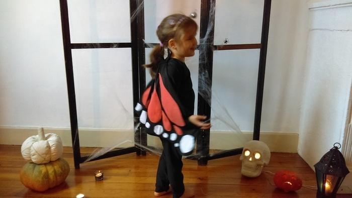 Costume express de papillon monarque-Résultat final