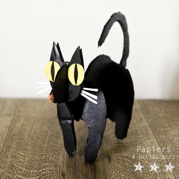 Le Chat noir aux grands yeux-Assembler les pièces