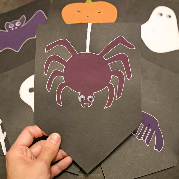 Une guirlande effrayante pour Halloween -Faire les finitions