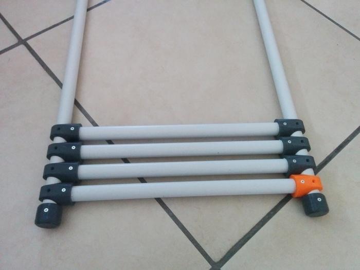 Echelle porte serviettes en tube PVC et impression 3D-Montage