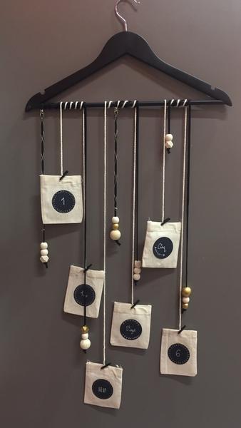 Mon calendrier de l'avent DIY 2017-Création du cintre