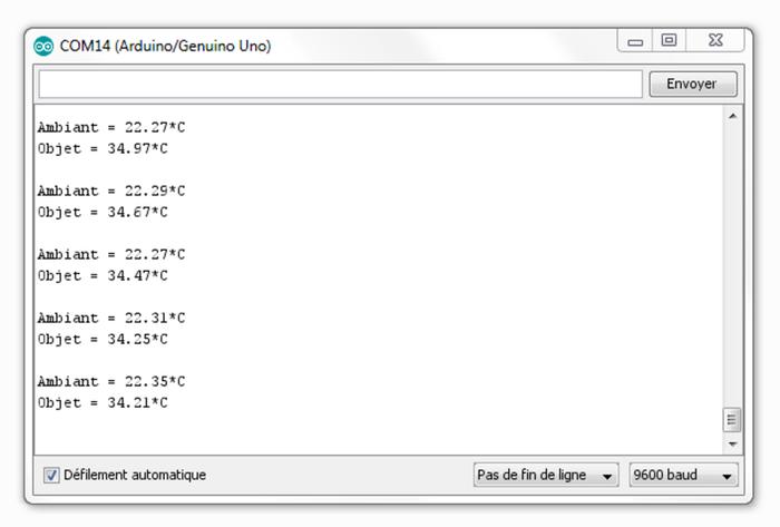 Réaliser des photos thermiques à partir d'Arduino-Température