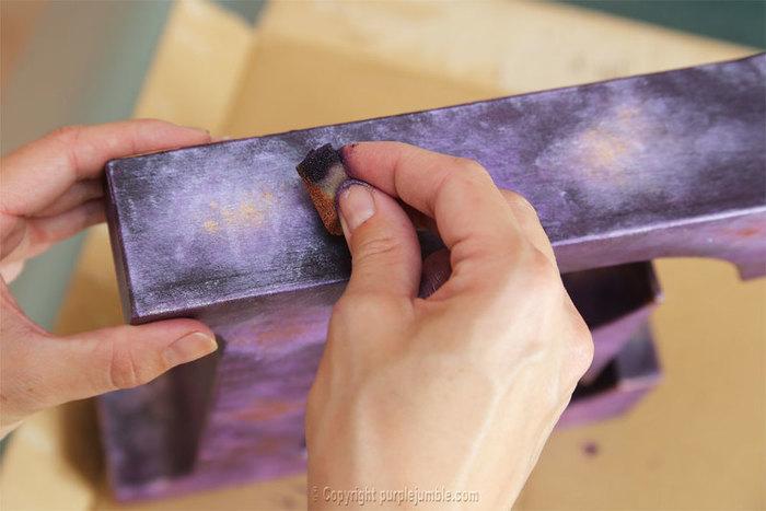 Défi OAMaker : une lettre E version galaxie étoilée-Peindre la lettre