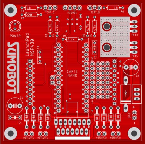 Fabriquer un robot SumoBot v4.0 (obsolète)-Routage du circuit électronique sur EAGLE