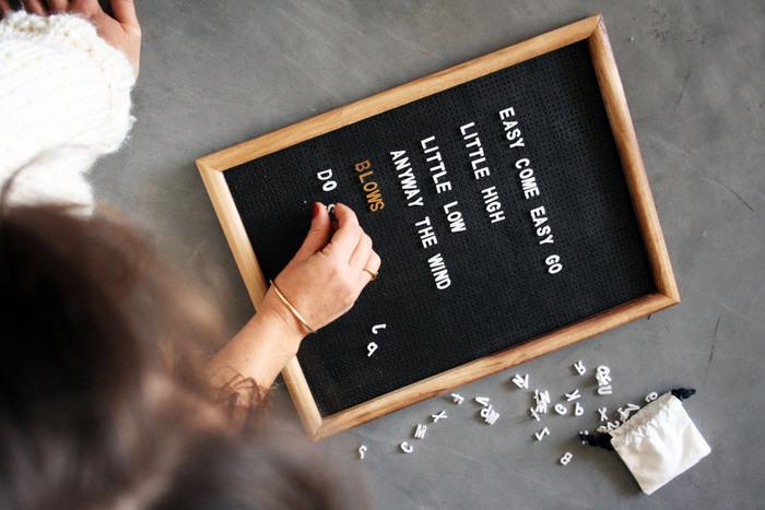 DIY letter board // Le tableau à messages-Le titre de votre étape ici