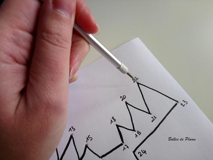 DIY : Calendrier de l'avent points à relier-Étapes de la réalisation