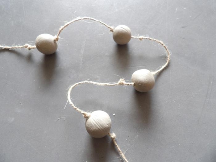 "DIY Décorations de sapin ""Noël Blanc""-Guirlande en perles d'argile"