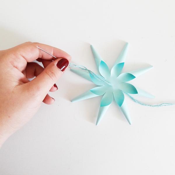DIY & Boules de Noël en papier-L'assamblage
