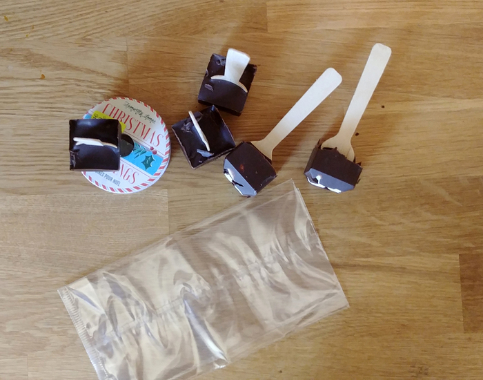 Des sucettes en chocolat/ chamallow-Fabrication